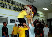 Georgetown, Malaysia: Lion Dancing School — Stock Photo