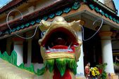 Georgetown, Malaysia: Wat Buppharam Dragon — Stock Photo