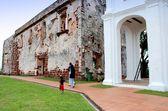 Melaka, malajsie: ruiny kostela svatého pavla — Stock fotografie