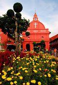 Melaka, Malaysia: Christ Church in Stadthuys Square — Stock Photo