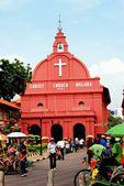 Melaka, Malaysia:  1753 Christ Church Melaka — Zdjęcie stockowe
