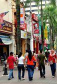 Kuala Lumpur, Malaysia:  Shops on Jalan Hang Kastun — Stock Photo