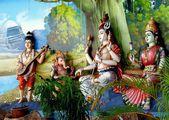 Kuala Lumpur, Malaysia:  Hindu Deities at Indian Temple — Stock Photo