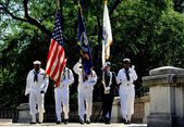 NYC: U. S. Navy Honour Guard at Memorial Day Service — Stockfoto
