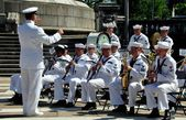NYC: U.S. Navy Band at Memorial Day Ceremonies — Stock Photo