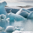 Stock Photo: Jokulsarlon lake with glacier