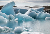 Jokulsarlon lake with glacier — Stockfoto