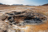 Namafjall fumaroles in Iceland — Stock Photo