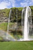Seljalandsfoss waterfall — Stock Photo