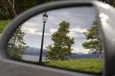 黄石公园在镜子中 — 图库照片