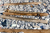 Wooden sleepers — Stock Photo