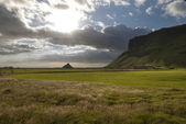 Sunset in Vik in Iceland — Stock Photo