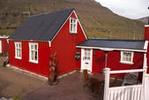 Red houses in Iceland — Stock Photo