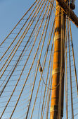 Ropes on the pirate ship — Stock Photo