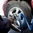 Stock Photo: Tire Change