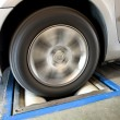 Stock Photo: Tire Prophylactic Test
