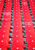 Red Stadium Seats — Stockfoto