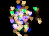 Heart Colorful Bokeh — 图库照片