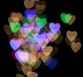 Bokeh colorido de coração — Fotografia Stock