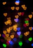 Heart Colorful Bokeh — Stock Photo