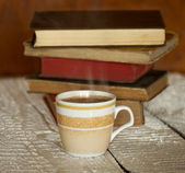 Coffee and Books — Stock Photo