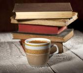 Café y libros — Foto de Stock