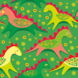 Toy dragons seamless pattern  — Stock Vector