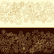 Snowflakes christmas border — Stockvektor