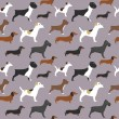 Dogs pattern — Stock Vector