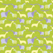 Lambs and deer pattern  — Stock Vector