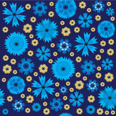 Seamless pattern with cornflowers — Stock Vector