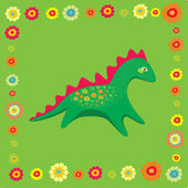 Baby-dinosaur — Stock Vector