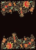 Floral border decor — Stock Vector