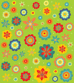 Decoratieve bloemen — Stockvector