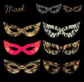 Ozdobny wzór maski — Wektor stockowy