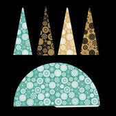 Decorative paper christmas tree — 图库矢量图片