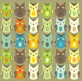 Owl backround — Stock Vector