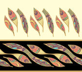 Indian art feathers — Stock Vector