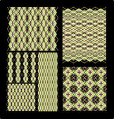 Set of weaving fabric textures — Stock Vector