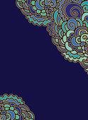 декоративная бумага с морской декор — Cтоковый вектор
