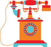 Retro telephone — Stock Vector