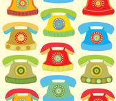 Retro phone pattern — Stock Vector
