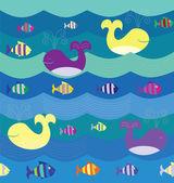 Sea pattern — Stock Vector