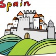 Spanish castle — Stock Vector #32464921