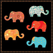 Elephants — Vetorial Stock