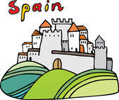 Spanish castle — Stock Vector