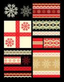 Christmas decorative elements — Stock Vector