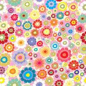 Seamless pattern with hippie flowers — Wektor stockowy