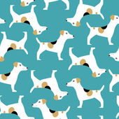Jack Russell Terrier pattern — Stock Vector