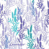 Seamless lavender pattern — Stock Vector